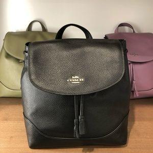 Elle Leather Backpack In Black